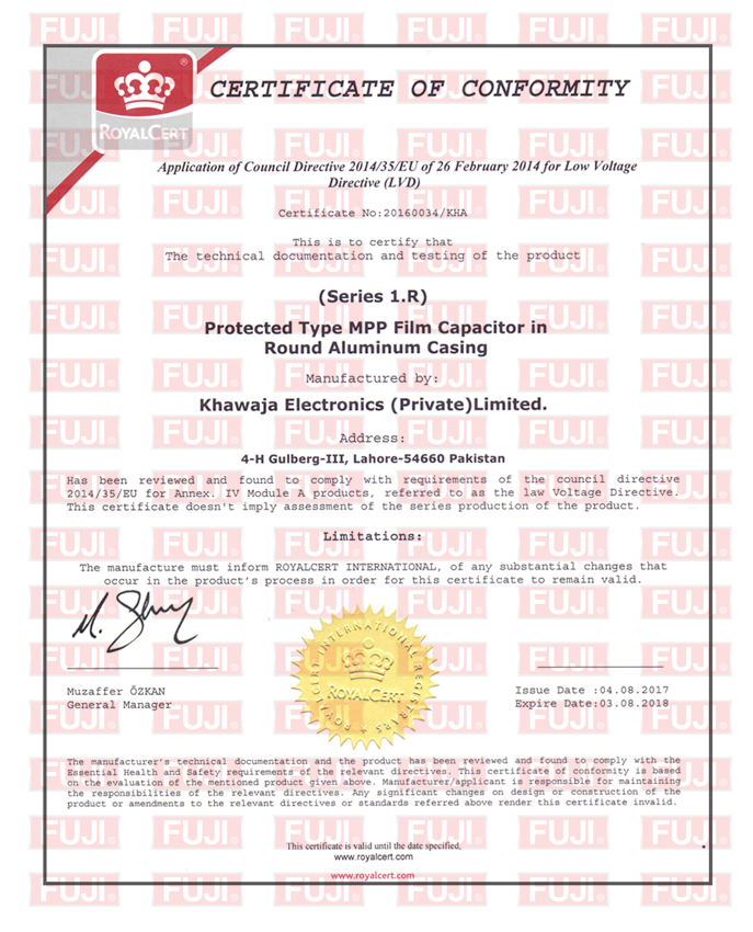 Fuji Capacitors – Committed to Excellence